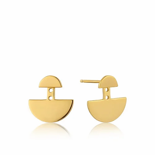 Gold Geometry Ear Jackets