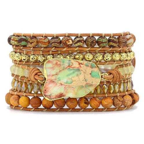 Pueblo Vista Emperor Jasper Wrap Bracelet