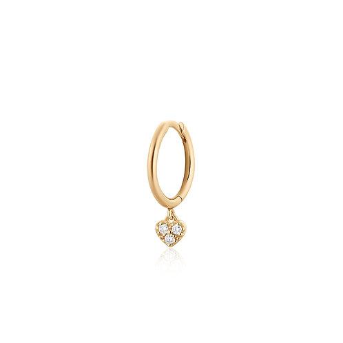 SOPHIE | Single Diamond Heart Hoop