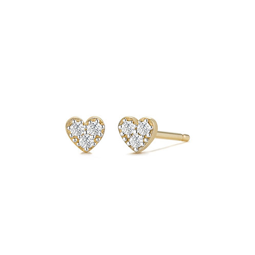 SOPHIE | Diamond Heart Studs