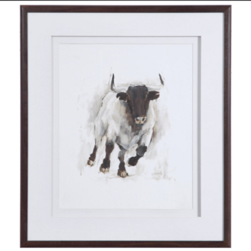 Rustic Bull Art