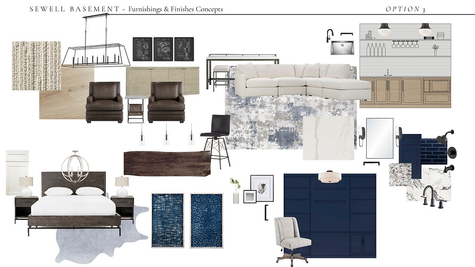 Sewell - Basement Furnishings:Materials.
