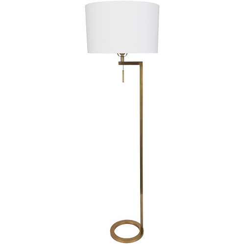 Easton Antiqued Brass Floor Lamp