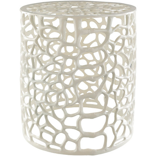 Laylah White End Table
