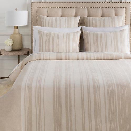 Averi Taupe Stripe Bedding