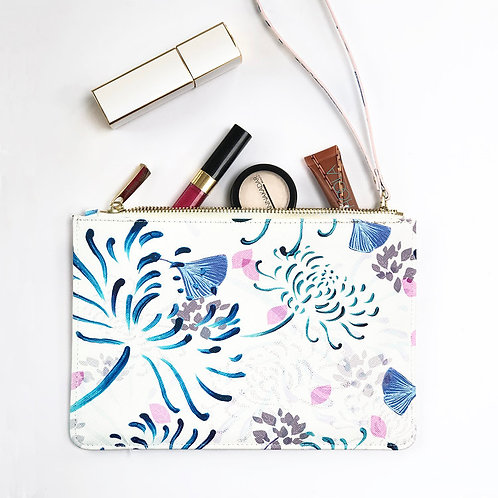 Saffiano Style Clutch – Florals