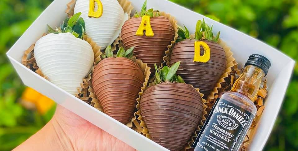 FATHER'S DAY ASSORTED HALF DOZEN CHOCOLATE COVERED BERRIES