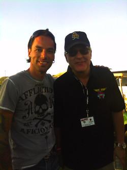 With Hugh McDonald