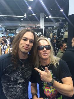 With Robert Mason