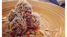Almond Blueberry Protein Energy Balls