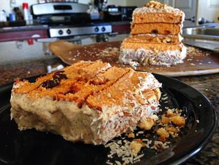 Gluten Free Carrot Cake w/ Creamy Greek Yogurt & Walnut Icing