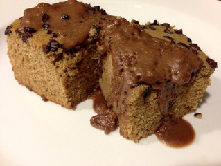 Japanese Sweet Potato Protein Cake with Chocolate Coconut Icing