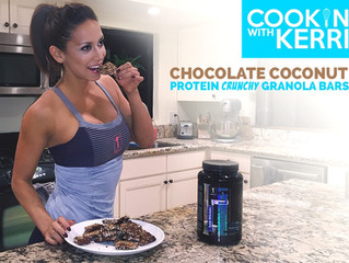 Chocolate Coconut Crunchy Protein Bars