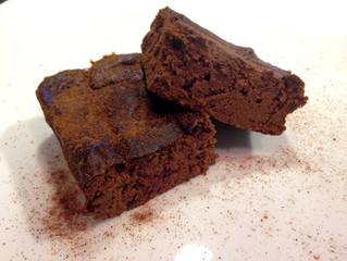 Chewy Double Chocolate Pumpkin Protein Brownies
