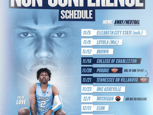 Heel Tough Blog: UNC Releases Full Non-Conference Schedule