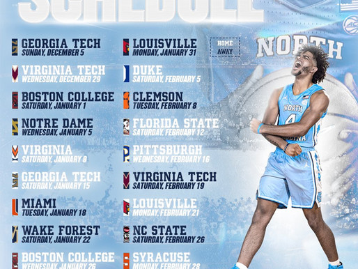 Heel Tough Blog: Breakdown of North Carolina's 2021-22 ACC Schedule
