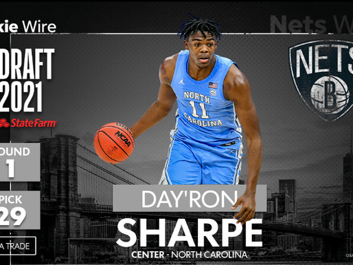 Heel Tough Blog: Sharpe Selected by Brooklyn in First Round