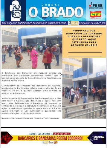 Atenção Bancários: Já saiu a SEGUNDA edição do mês de MARÇO do Jornal O Brado