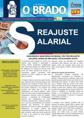 Atenção Bancários: Já saiu a PRIMEIRA edição do mês de SETEMBRO do Jornal O Brado
