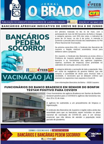 Atenção Bancários: Já saiu a SEGUNDA edição do mês de MAIO do Jornal O Brado