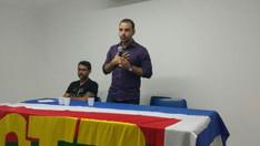 Palestra com o Presidente do Sindicatos dos Bancários da Bahia, Augusto Vasconcelos