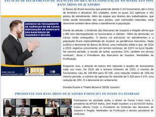 Atenção Bancários: Já saiu a PRIMEIRA edição do mês de JANEIRO do Jornal O Brado