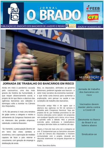 Atenção Bancários: Já saiu a PRIMEIRA edição do mês de AGOSTO do Jornal O Brado