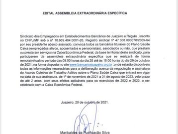 Confira o edital de assembleia Plano de Saúde Caixa