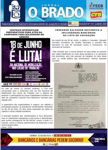 Atenção Bancários: Já saiu a PRIMEIRA edição do mês de JUNHO do Jornal O Brado