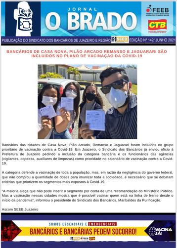 Atenção Bancários: Já saiu a SEGUNDA edição do mês de JUNHO do Jornal O Brado