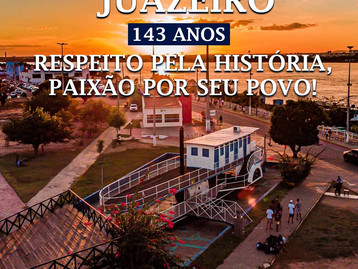 O Sindicato dos Bancários de Juazeiro parabeniza neste 15 de julho o município pelos seus 143 anos!
