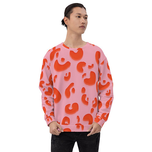 Pink Animal Print Crewneck