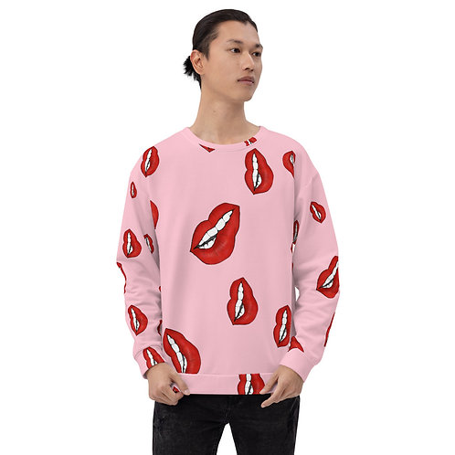 Lip Print Unisex Sweatshirt