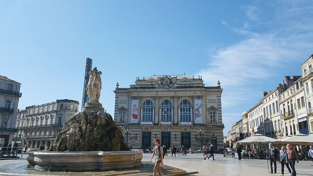 Montpellier, la place de la Comédie