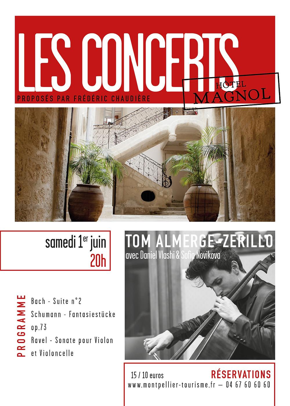 Charlotte Saluste-Bridoux et Nicolas Dross en concert à l'Hôtel Magnol