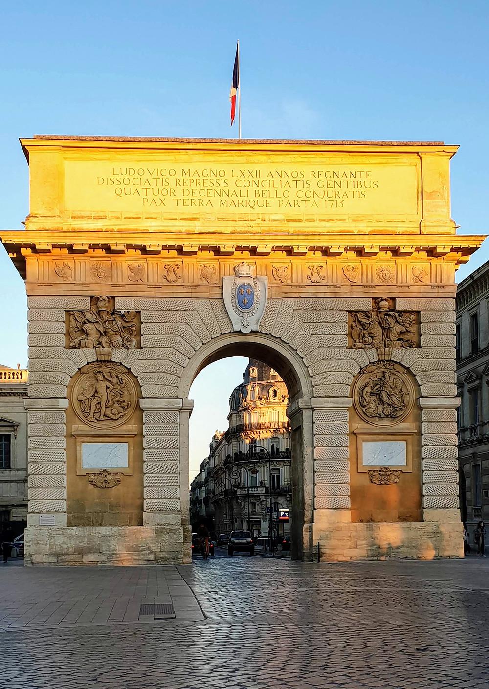 Montpellier, l'arc de triomphe