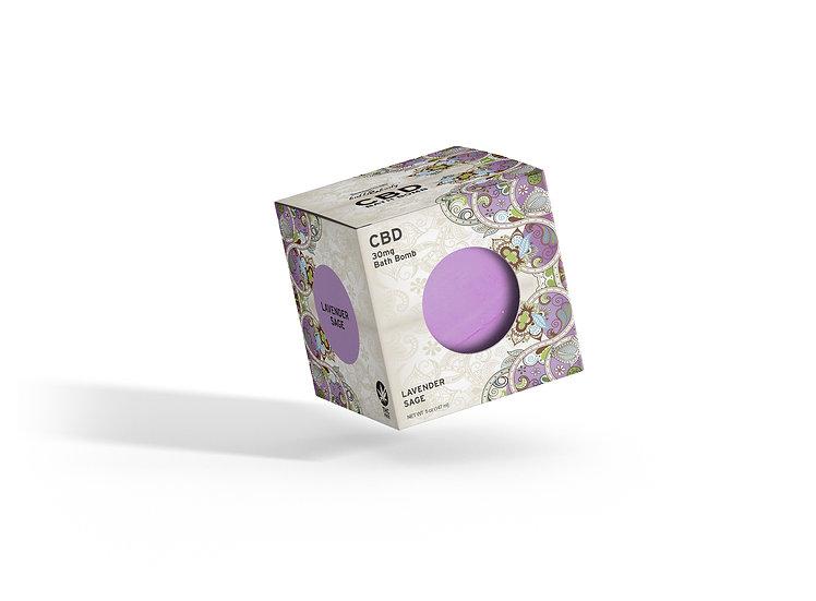Lavender Sage CBD Bath Bomb 30mg