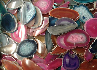 agate slices (brazil)