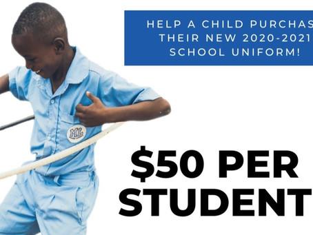 Uniform Drive: 2020-2021 School Year!