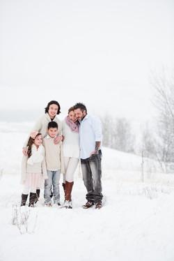 Salmon Arm Winter family photoshoot