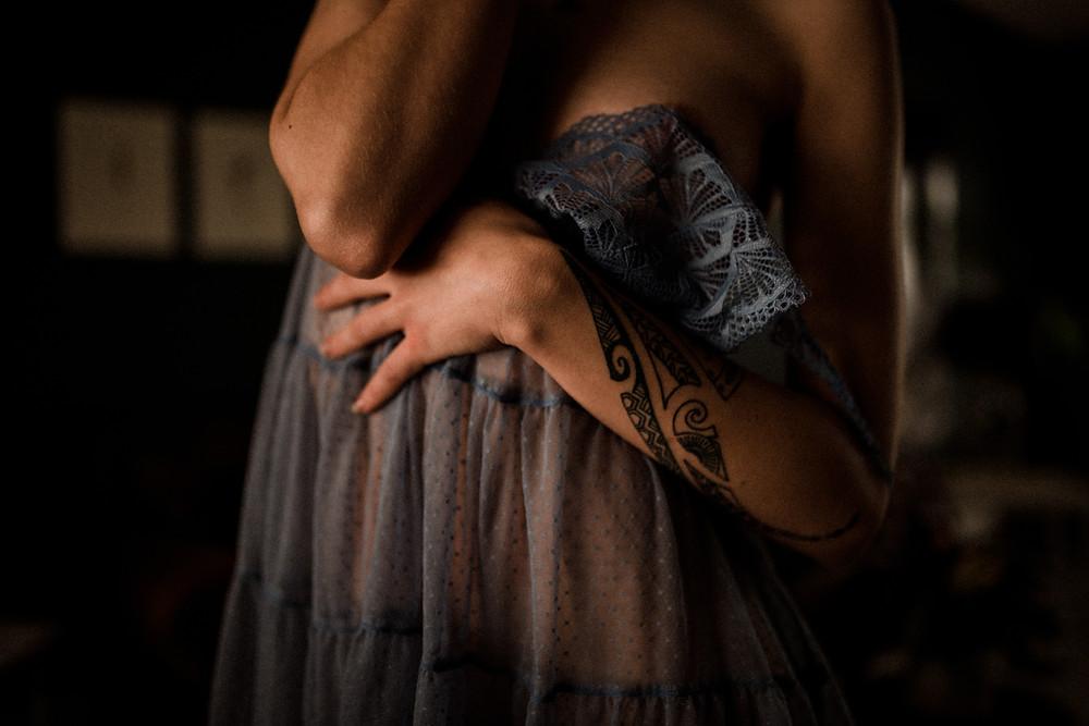 Salmon Arm Boudoir Photographer woman in lingerie
