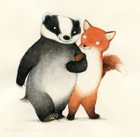 Mr Badger and Ms Fox