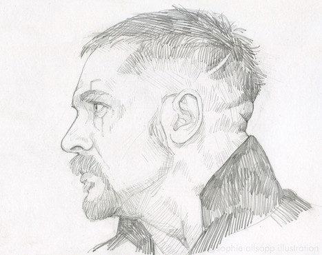 A sketch of Tom Hardy in 'Taboo'