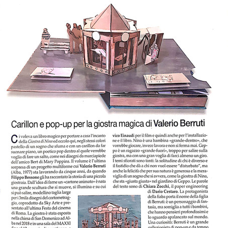 IL LIBRO POP-UP DI VALERIO BERRUTI DEDICATO ALLA GIOSTRA DI NINA, CON MUSICHE DI LUDOVICO EINAUDI