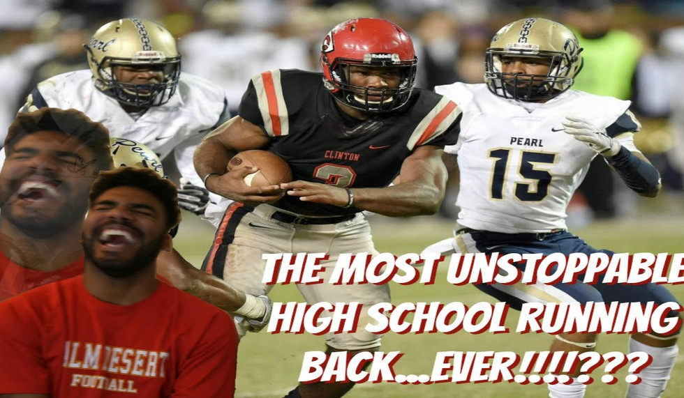 The Most Unfair High School Running Back!!! Cam Akers Highlight [Reaction]
