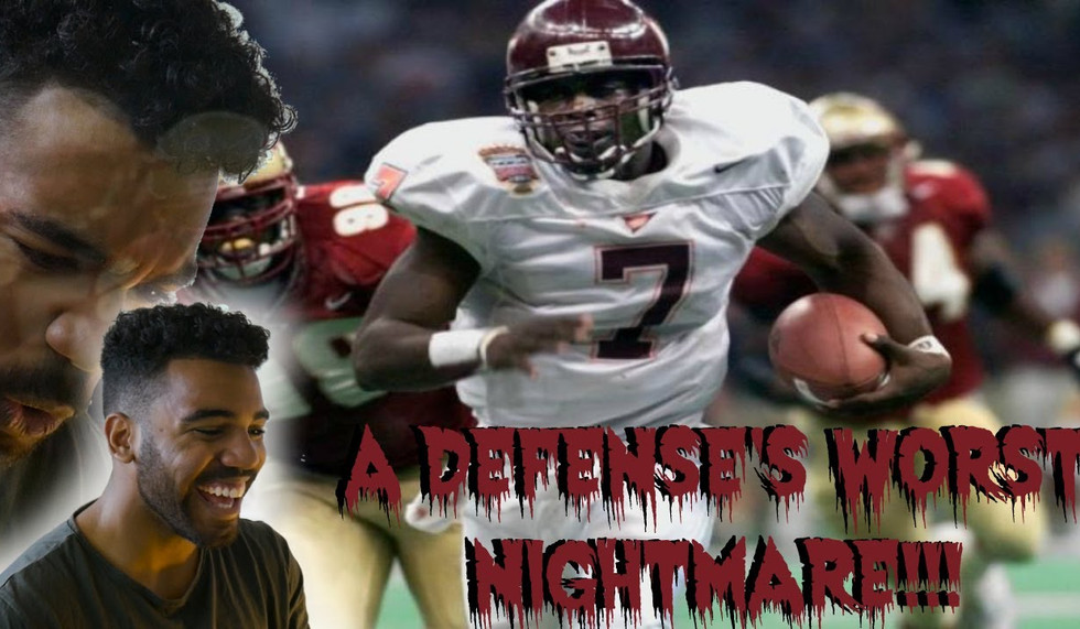 The Most Elusive Quarterback Of All-Time- Michael Vick College Highlights [Reaction]