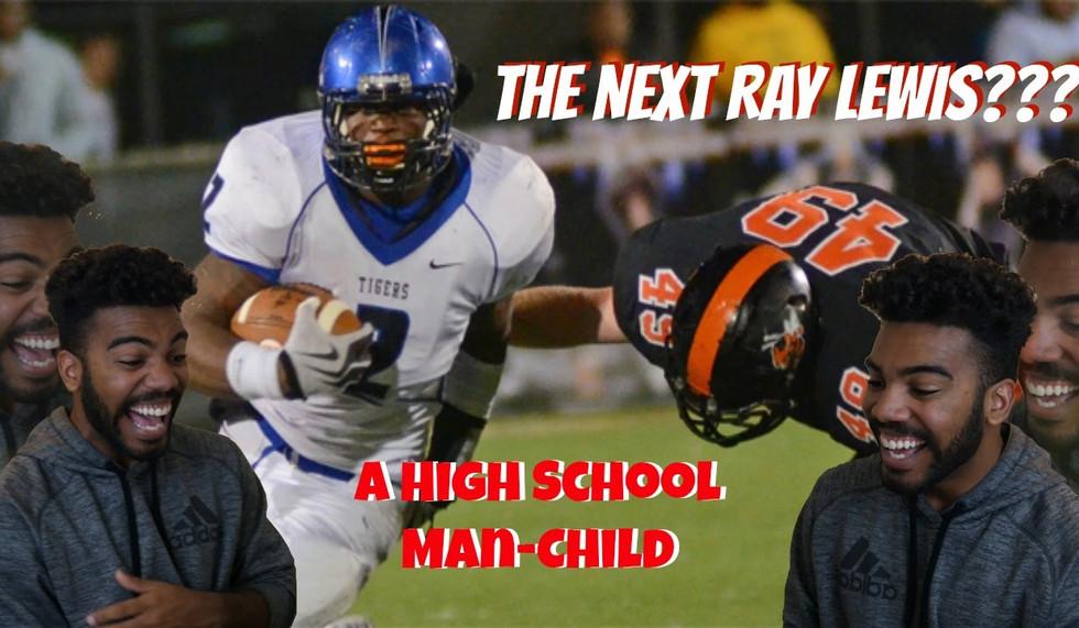 A Grown Man Playing High School Football- Reuben Foster High School Highlights Reaction
