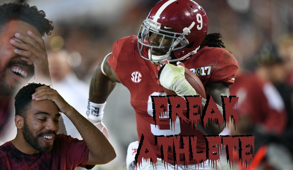 The World's Scariest Running Back!!!- Bo Scarbrough highlight reaction