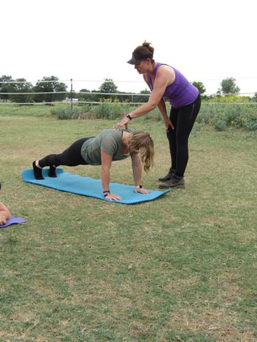 Perfect Paddock Planking!