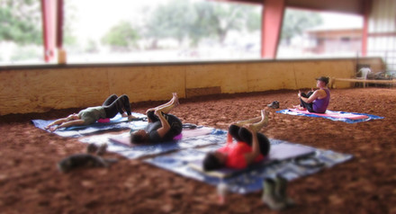 Pilates for Riders- in the arena!
